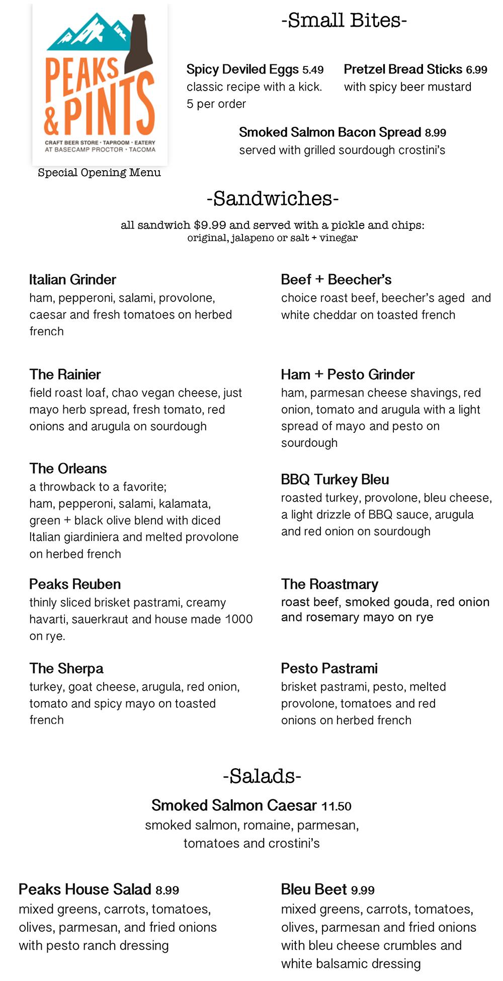 peaks-and-pints-tacoma-food-menu