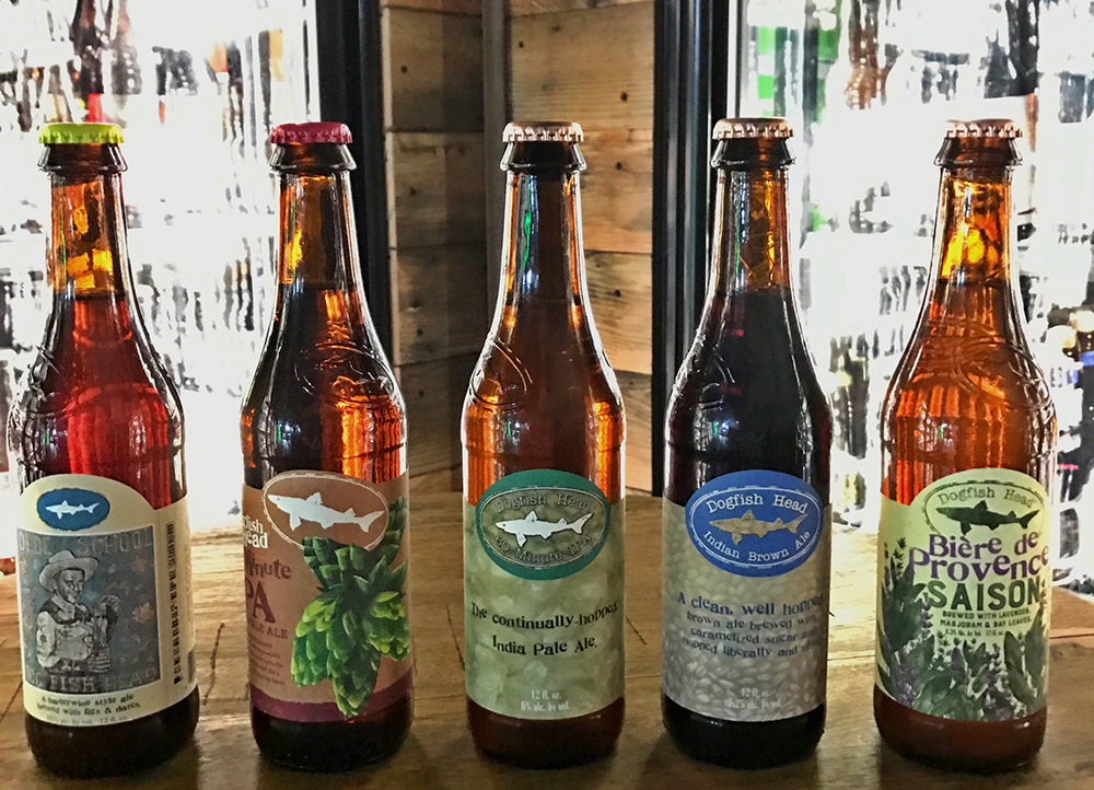 Craft Beer Crosscut 1 29 17 A Flight Of Dogfish Head Peaks And Pints Tacomapeaks And Pints