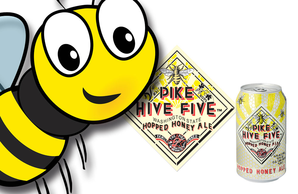 Pike-Brewing-Hive-Five-Honey-Ale-cans