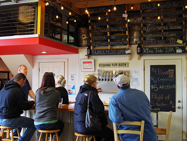 Take time off from beachcombing for a beer at Westport Brewing Co. Photo credit: Pappi Swarner
